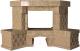Портал для камина Glivi Несвиж угловой 150.5x124.5 Emperador Light (светло-коричневый) -