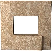 Портал для камина Glivi Порто 136x155x134 Emperador Light (светло-коричневый) -