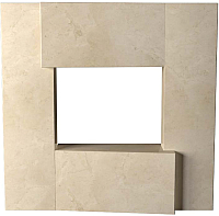 Портал для камина Glivi Порто 136x155x134 Crema Marfil (слоновая кость) -