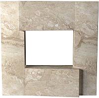 Портал для камина Glivi Порто 136x155x134 Breccia Sardo (темно-бежевый) -