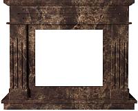Портал для камина Glivi Рогнеда 135x43.5x110 Emperador Dark (темно-коричневый) -