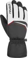 Перчатки лыжные Reusch Snow King / 4801198 120 (р-р 7.5, White/FireRed/Black) -