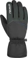 Перчатки лыжные Reusch Snow King / 4801198 681 (р-р 11, Dark Granite/Black) -
