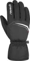 Перчатки лыжные Reusch Snow King / 4801198 701 (р-р 10.5, Black/White) -