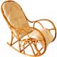 Кресло-качалка Черниговская  фабрика лозовых изделий КК 4 (натуральный, с подушкой) -