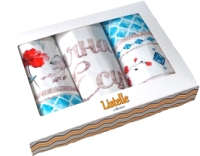 Набор полотенец Listelle Блю даймонд 46401 (3шт) -