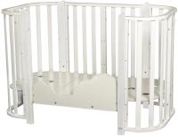 Детская кровать-трансформер INDIGO Brioni 4 в 1 / KR-0013/1 (белый) -