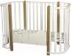 Детская кровать-трансформер INDIGO Brioni 4 в 1 / KR-0013/0 (белый/натуральный) -