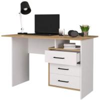 Письменный стол Горизонт Мебель Лайт (белый/крафт золотой) -
