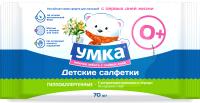 Влажные салфетки детские УМКА 70шт -