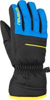 Перчатки лыжные Reusch Alan / 6061115 7002 (р-р 6.5, Black/Brilliant Blue/Safety Yellow) -