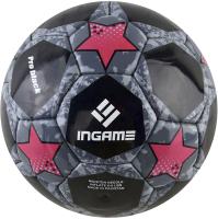 Футбольный мяч Ingame Pro Black 2020 (размер 5, черный/красный) -