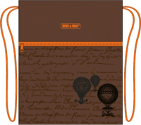 Сумка для обуви Mike&Mar Глобус / MB-158 (коричневый/оранжевый кант) -