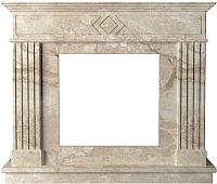 Портал для камина Glivi Родез 130x30x110 Breccia Sardo (темно-бежевый) -