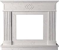 Портал для камина Glivi Родез 130x30x110 Biancone (белый) -