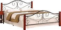 Полуторная кровать Halmar Violetta 140x200 (черешня античная/черный) -