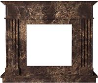 Портал для камина Glivi Родез 130x30x110 Emperador Dark (темно-коричневый) -