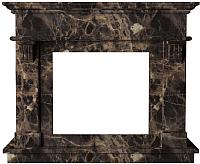Портал для камина Glivi Санта-Лючия 135x41x111 Emperador Dark (темно-коричневый) -