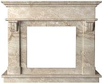 Портал для камина Glivi Санта-Лючия 135x41x111 Breccia Sardo (темно-бежевый) -