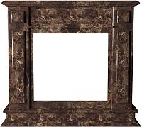 Портал для камина Glivi София 114x33x102 Emperador Dark (темно-коричневый) -