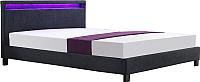 Двуспальная кровать Halmar Arda 160x200 (темно-серый) -