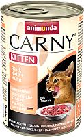 Корм для кошек Animonda Carny Kitten с говядиной,телятиной и курицей (400г) -