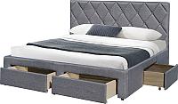 Двуспальная кровать Halmar Betina 160x200 (серый) -