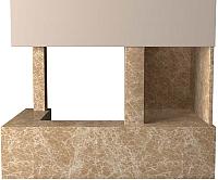 Портал для камина Glivi Сарагоса 152.5x80.5x95 Emperador Light (светло-коричневый) -