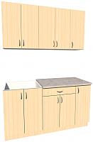 Готовая кухня Хоум Лайн Агата 1.5 (дуб молочный) -