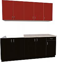 Готовая кухня Хоум Лайн Агата 2.0 (черный/красный) -