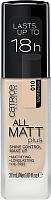 Тональный крем Catrice All Matt Plus Shine Control Make Up выравнивающий тон 010 (30мл) -