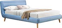 Полуторная кровать Halmar Elanda 140x200 (синий) -