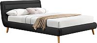 Полуторная кровать Halmar Elanda 140x200 (темно-серый) -