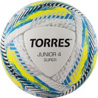 Футбольный мяч Torres Junior-4 Super HS/ F320304 (р-р 4, белый/желтый/голубой) -