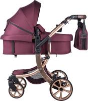 Детская универсальная коляска Aimile Original Gold / FTG-14 (вишневый) -