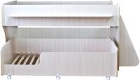 Двухъярусная кровать Можга Капризун 7 / Р444 (дуб млечный) -