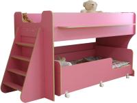 Двухъярусная кровать Можга Капризун 7 / Р444-2 (розовый) -