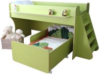 Двухъярусная кровать Можга Капризун 7 / Р444-2 (лайм) -
