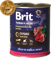 Корм для собак Brit Premium By Nature Heart & Liver / 40209 (850г) -