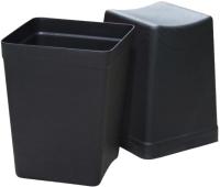 Мусорное ведро ZETA PTZ-00820 (40л, черный ) -