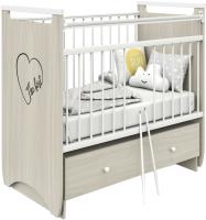 Детская кроватка Атон Герда (шимо светлый/белый) -