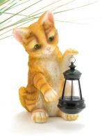 Садовая фигура-светильник Чудесный Сад 543 Котенок с фонарем -