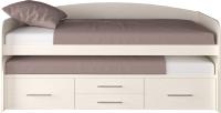 Двухъярусная выдвижная кровать детская Артём-Мебель СН 108.02 (сосна арктическая) -