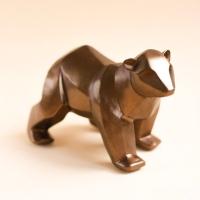 Статуэтка Нашы майстры Медведь геометрический / 9008 (бронза) -