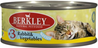 Корм для кошек Berkley Для котят кролик с овощами (100г) -