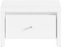 Прикроватная тумба BMK Кристина KOM1S (B) (белый н.а./белый глянец) -