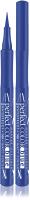 Подводка-фломастер для глаз LUXVISAGE Perfect Color Waterproof 14h Matt Finish Blue -