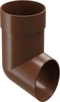 Колено для водостока Docke Dacha 80мм (светло-коричневый) -