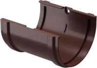 Соединитель желобов Docke Dacha 120мм (светло-коричневый) -