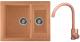 Мойка кухонная Gerhans C01 + смеситель KK4299-23 (терракот) -